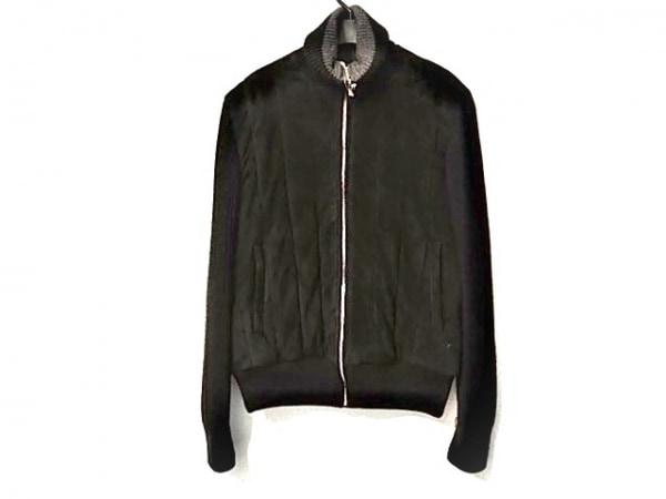 GIVENCHY(ジバンシー) ブルゾン サイズ46 XL メンズ美品  黒 冬物/レザー/ニット