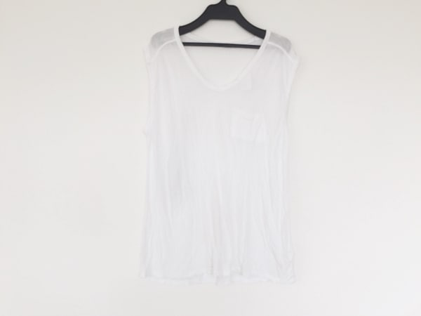 TbyALEXANDER WANG(アレキサンダーワン) ノースリーブTシャツ サイズS レディース 白
