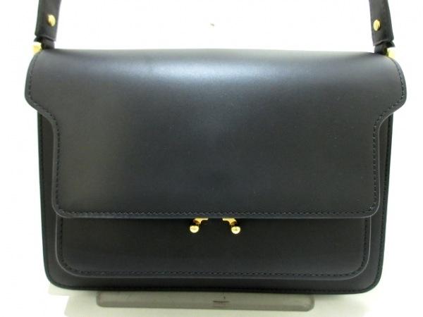 MARNI(マルニ) ショルダーバッグ美品  黒 レザー