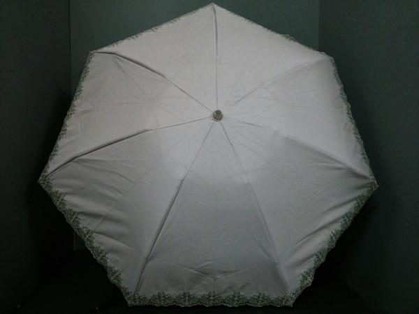 イヴサンローラン 日傘 ピンク×アイボリー レース/折りたたみ 化学繊維