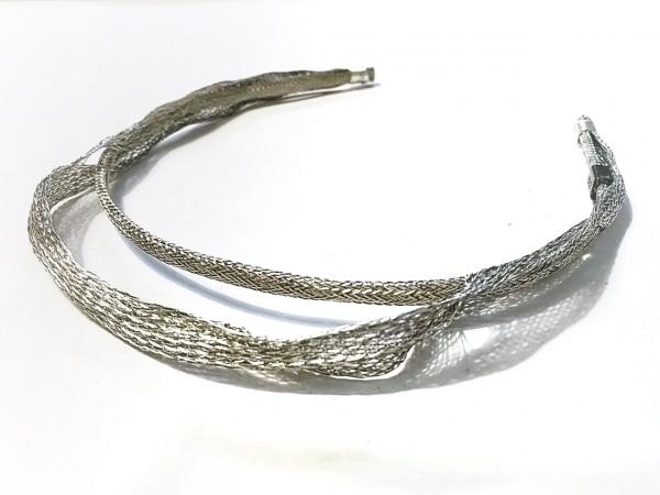 colette malouf(コレットマルーフ) カチューシャ美品  金属素材 シルバー