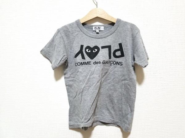 プレイコムデギャルソン 半袖Tシャツ サイズ6 M レディース美品  グレー×黒