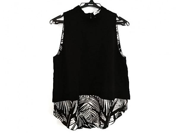 エリザベスアンドジェームス ノースリーブカットソー サイズS レディース美品  黒×白