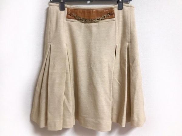 セリーヌ スカート サイズ38 M レディース美品  ライトブラウン×ブラウン×ゴールド