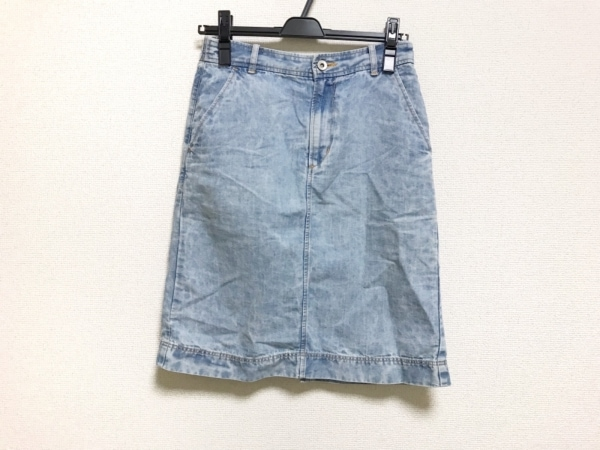 MUVEIL WORK(ミュベールワーク) スカート レディース美品  ライトブルー デニム