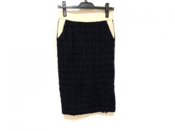 コーヘン スカート サイズ36 S レディース ダークネイビー×黒 Yonetomi Tweed