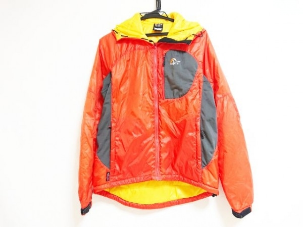 Lowe Alpine(ロウアルパイン) ブルゾン サイズM メンズ オレンジ×カーキ 冬物