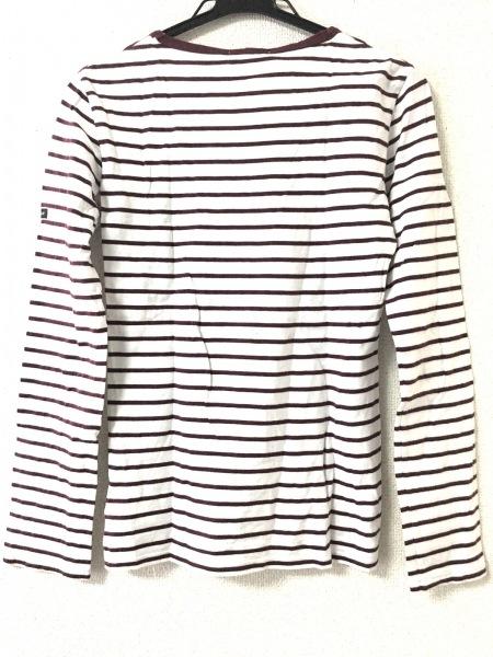 LOVELESS(ラブレス) 長袖Tシャツ サイズ34 S レディース美品  白×ボルドー ボーダー