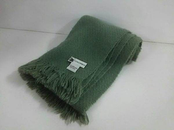 COLOMBO(コロンボ) マフラー美品  ライトグリーン カシミヤ×シルク