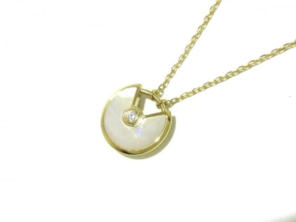 カルティエ ネックレス美品  アミュレット ドゥ カルティエ B3047100 1Pダイヤ