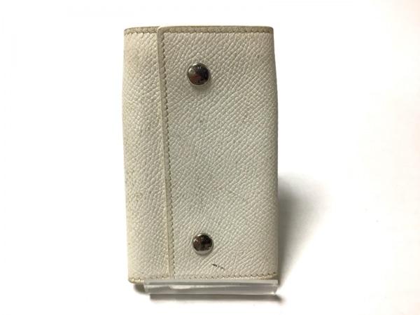 HERMES(エルメス) キーケース セリエエテュイクレ4 白 4連フック ヴォーエプソン