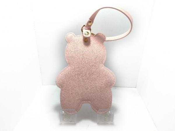 Maison de FLEUR(メゾンドフルール) 小物入れ美品  ピンク レザー×化学繊維