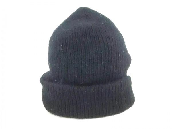 N.Hoolywood(エヌハリウッド) ニット帽 黒 ウール×化学繊維