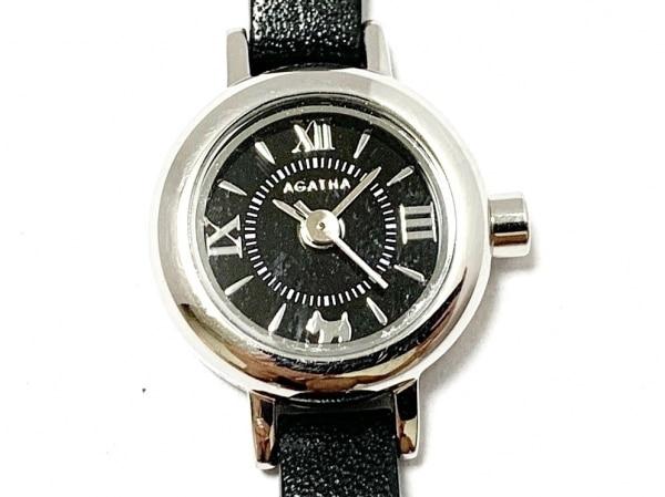 AGATHA(アガタ) 腕時計美品  - レディース 革ベルト 黒