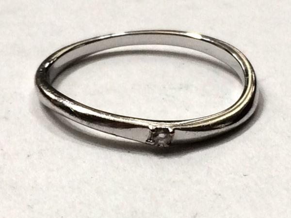 ヴァンドーム青山 リング美品  K10YG×ダイヤモンド 1Pダイヤ/約0.15カラット