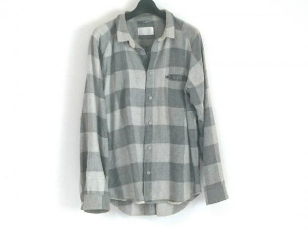 TROVE(トローヴ) 長袖シャツ サイズ3 L メンズ グレー×ライトグレー チェック柄