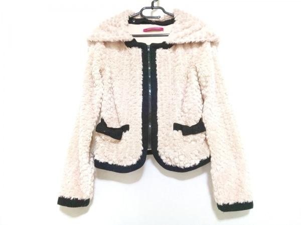 ドーリーガール ジャケット サイズ2 S レディース ベージュ×黒 フェイクファー