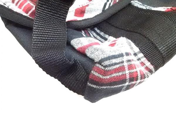 DIESEL(ディーゼル) ショルダーバッグ 黒×マルチ チェック柄 ナイロン×コットン