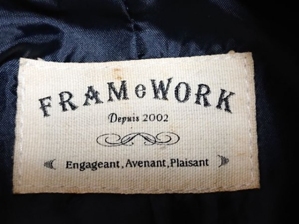 Framework(フレームワーク) ライダースジャケット サイズ38 M レディース 黒 レザー