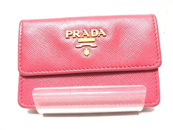 PRADA(プラダ) 名刺入れ - ピンク レザー