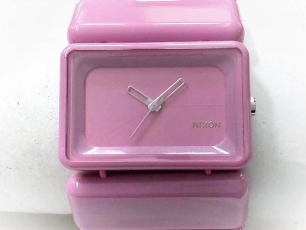 NIXON(ニクソン) 腕時計美品  THE VEGA 8J レディース ピンク