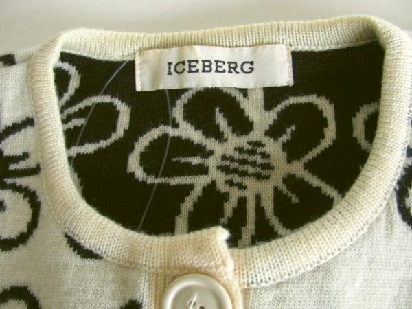 ICEBERG(アイスバーグ) カーディガン レディース アイボリー×黒 花柄