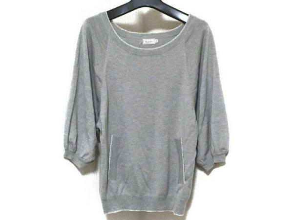 anatelier(アナトリエ) 七分袖セーター サイズ38 M レディース グレー ラメ