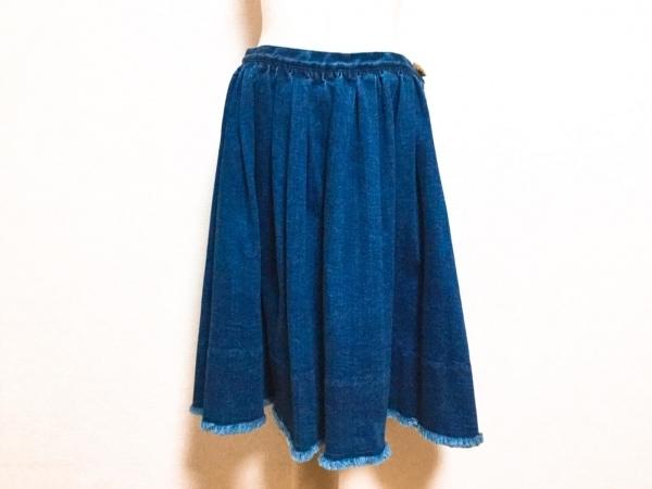 シャルルアナスタス スカート サイズS レディース美品  ネイビー デニム/ダメージ加工