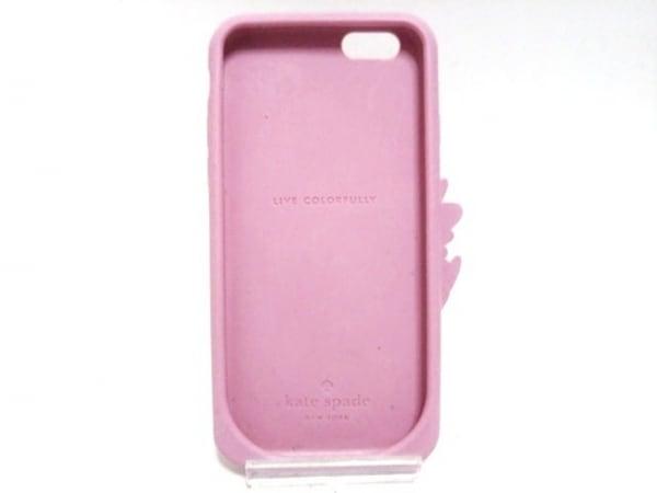 ケイトスペード 携帯電話ケース ピンク×黒×マルチ Phoneケース/鳥柄 ラバー
