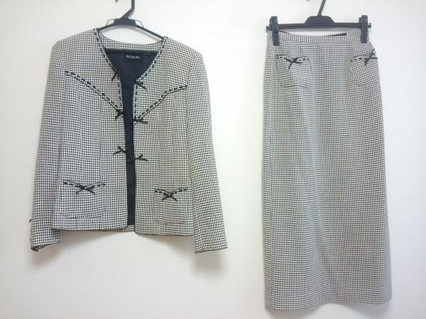 INGEBORG(インゲボルグ) スカートスーツ レディース 黒×白 千鳥格子