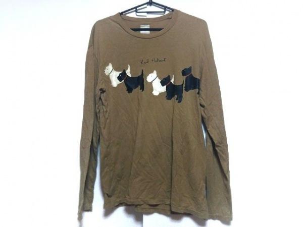 KarlHelmut(カールヘルム) 半袖Tシャツ メンズ ベージュ×黒×白