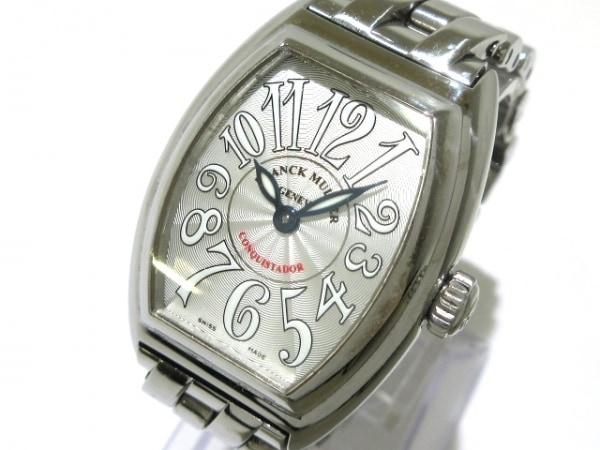 フランクミュラー 腕時計 コンキスタドール 8005LQZ レディース SS シルバー