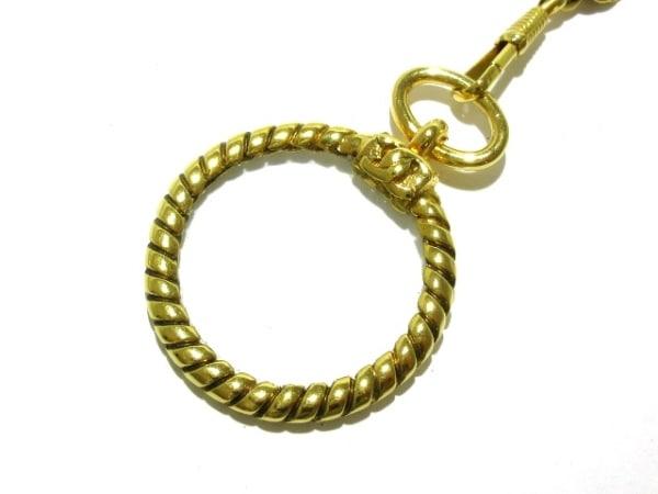 CHANEL(シャネル) ネックレス 金属素材×ガラス ゴールド×クリア ルーペ