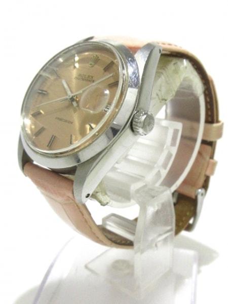 ROLEX(ロレックス) 腕時計 オイスターデイト 6694 メンズ SS/社外革ベルト ピンク
