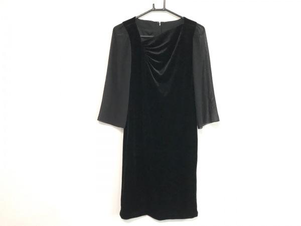 JUN ASHIDA(ジュンアシダ) ワンピース レディース美品  黒 ベロア