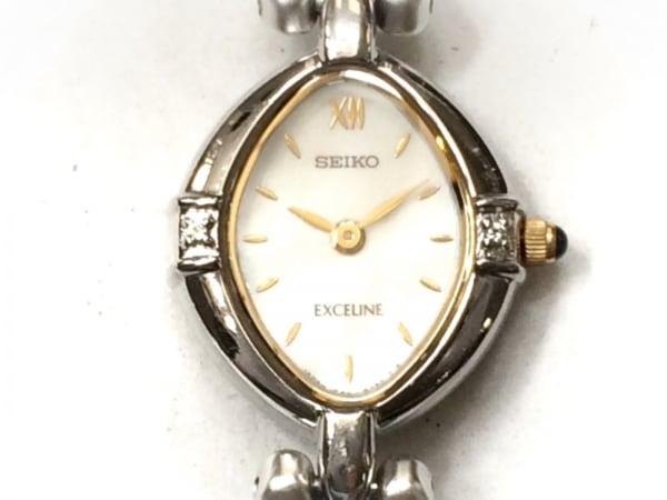 SEIKO(セイコー) 腕時計 エクセリーヌ 1F20-6B60 レディース シェル文字盤 アイボリー