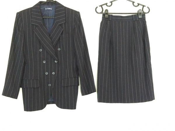 クロエ スカートスーツ サイズ42 L レディース美品  ダークネイビー×ライトブルー