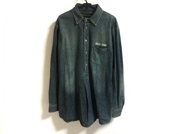 BACKCHANNEL(バックチャンネル) 長袖シャツ サイズXXL XL メンズ美品  ブルー