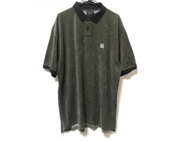 バックチャンネル 半袖ポロシャツ サイズXL メンズ美品  ベージュ×黒 ベロア