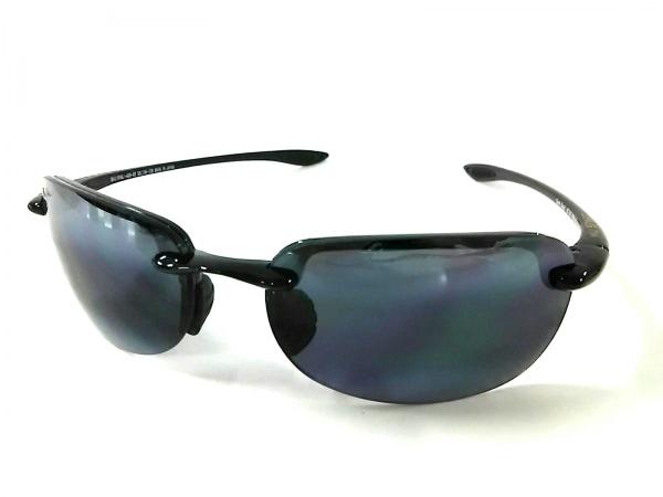 Maui Jim(マウイジム) サングラス美品  MJ-408-02 黒 プラスチック×金属素材