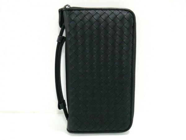 ボッテガヴェネタ 財布 イントレチャート B05209788R 黒 ラウンドファスナー レザー