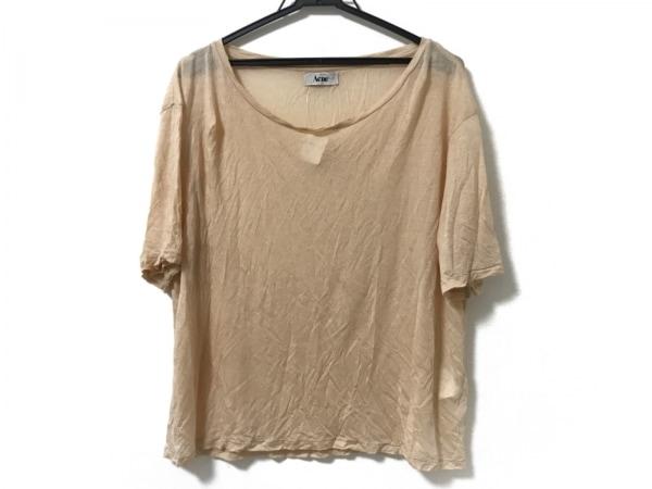 Acne(アクネ) 半袖Tシャツ サイズM レディース美品  ベージュ