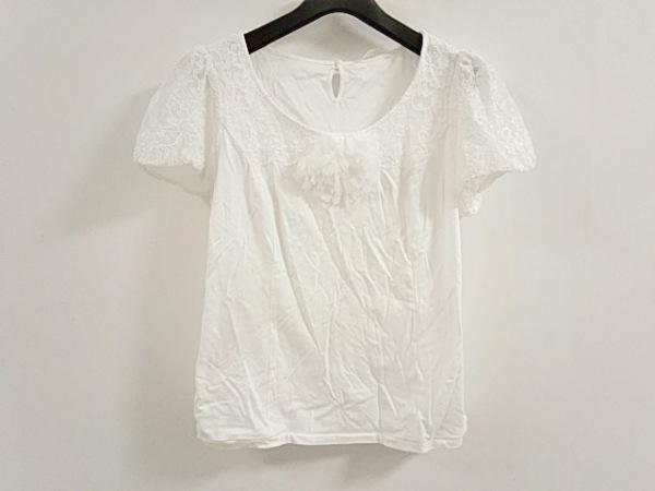 COTOO(コトゥー) 半袖カットソー サイズ40 M レディース美品  白 フラワー/レース