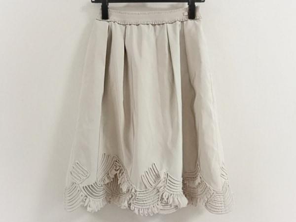 COTOO(コトゥー) スカート サイズ38 M レディース美品  アイボリー メッシュ/フリル