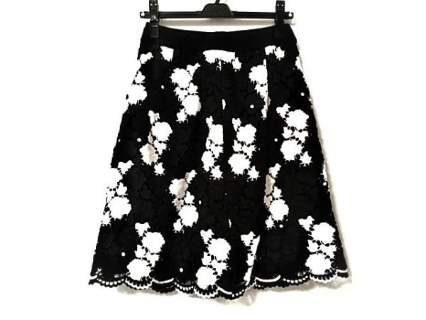 COTOO(コトゥー) スカート サイズ38 M レディース美品  黒×白 レース/花柄