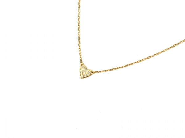 AHKAH(アーカー) ネックレス美品  K18YG×ダイヤモンド 0.05カラット