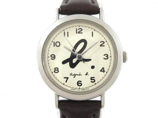 agnes b(アニエスベー) 腕時計 V701-6210 レディース アイボリー