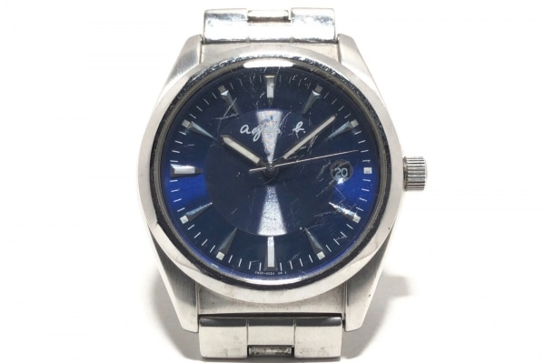 agnes b(アニエスベー) 腕時計 7N32-0BM0 メンズ ネイビー