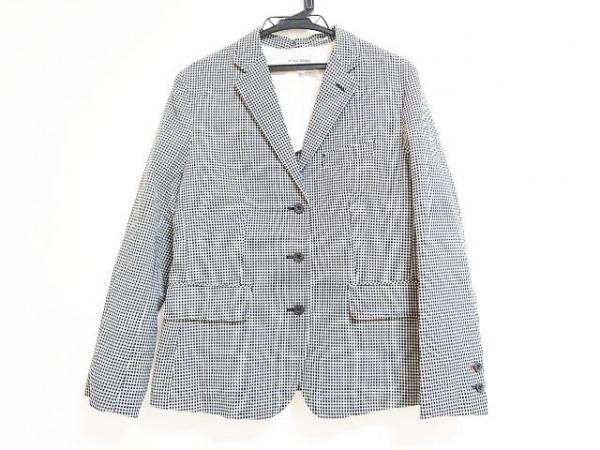 イネスドゥラフレサンジュ ジャケット サイズXL レディース 黒×白