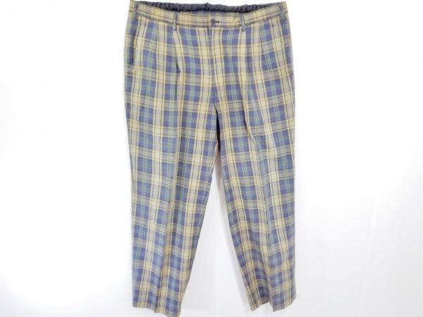 クリスチャンディオールムッシュ パンツ サイズ91 メンズ ベージュ×ネイビー×マルチ